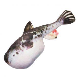 AMY CAROL Žaislas Puffer fish su katžole 23x7x4cm rožiniai sparnai