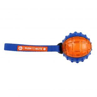 GIGWI Šunų žaislas Kamuolys Push To Mute mėlynas/oranžinis