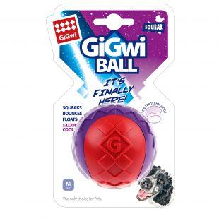 GIGWI Šunų žaislas Kamuolys cypiantis raudonas/violetinis 1 vnt
