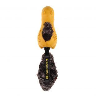 GIGWI Šunų žaislas Voverė Push To Mute geltonas