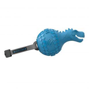 GIGWI Šunų žaislas Dinozauras Push To Mute mėlynas