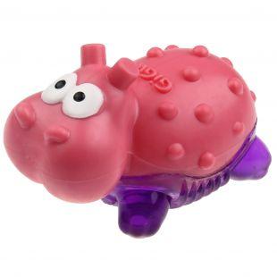 GIGWI Šunų žaislas Suppa Puppa Begemotas rožinis/violetinis