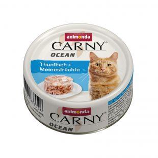 ANIMONDA Carny Ocean konservuotas kačių pašaras su tunu ir jūros gėrybėmis, 80 g