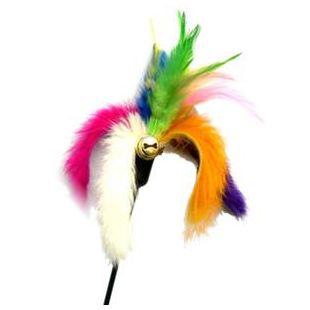 AMY CAROL Elastinis žaislas su kailiu ir plunksnomis 47cm x 6cm