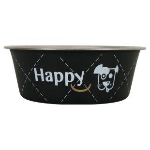 ZOLUX Dubenėlis šuniui Happy metalinis, 400ml, juodas