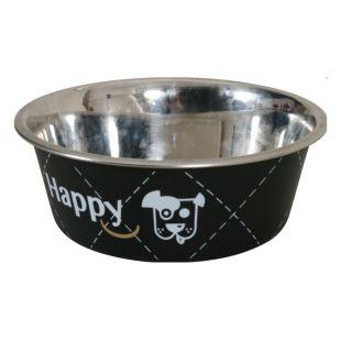 ZOLUX Dubenėlis šuniui Happy metalinis, 800ml, juodas