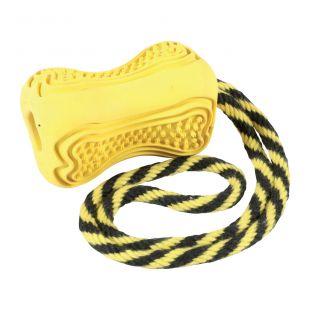 ZOLUX Žaislas šuniui Titan guminis, S dydis, geltonas