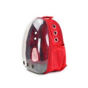 PAW COUTURE Pernešimo krepšys gyvūnui, raudonas