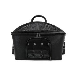 PAW COUTURE Pernešimo krepšys gyvūnui, juodas