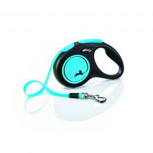 FLEXI Neon, max 15kg 5m, juostelinis Pavadis S    mėlynos spalvos