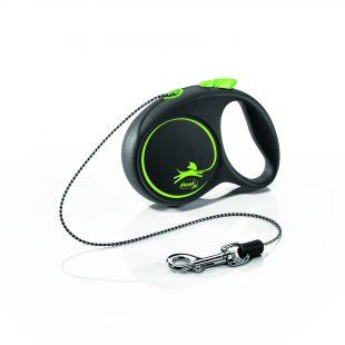 FLEXI Black Design virvelinis pavadis XS, max 8kg 3m, virvelinis, žalios spalvos