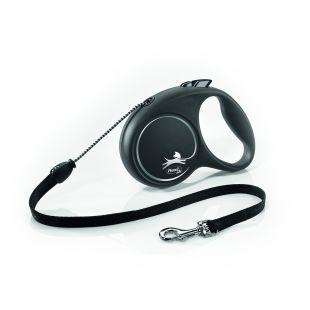 FLEXI Black Design virvelinis pavadis S    juodos spalvos