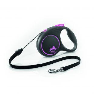 FLEXI Black Design virvelinis pavadis S rožinės spalvos