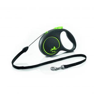 FLEXI Black Design virvelinis pavadis S žalios spalvos