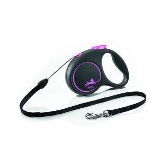 FLEXI Black Design juostelinis pavadis M    rožinės spalvos