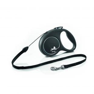 FLEXI Black Design, max 50kg 5m, juostelinis pavadis L    juodos spalvos