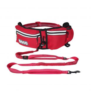 DOCO Bėgimo diržas šuniui raudonas