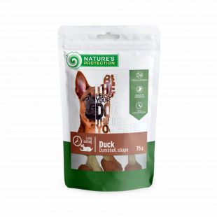 NATURE'S PROTECTION skanėstas šunims iš antienos svarmens formos 75 g