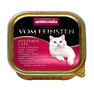 ANIMONDA Vom feinsten konservuotas sterilizuotų kačių pašaras su kalakutiena ir pomidorais, 100 g