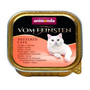 ANIMONDA Vom feinsten konservuotas sterilizuotų kačių pašaras su kalakutiena ir lašiša, 100 g