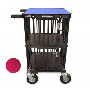 HYDROGROOM Dvigubas vežimėlis Mini double spindinti avietinė