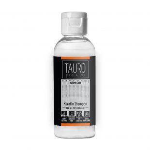 TAURO PRO LINE White coat KERATIN SHAMPOO, šampūnas šunims ir katėms 65 ml