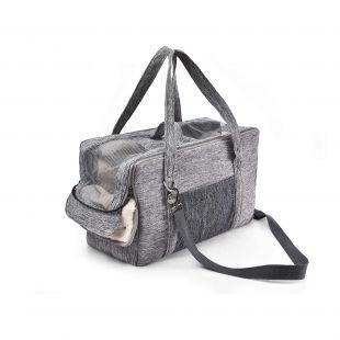 P.LOUNGE Pernešimo krepšys gyvūnui, M dydis,  43x20x26 cm, pilka