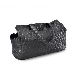 P.LOUNGE Pernešimo krepšys gyvūnui, M dydis,  50x24x30 cm, juodas