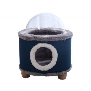 P.LOUNGE Gyvūnų guolis - būdelė, 40x40x47cm, mėlynas