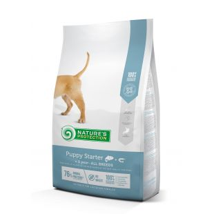 NATURE'S PROTECTION Puppy Starter All breeds Up to 1 year Salmon with krill Sausas pašaras šunims 2 kg