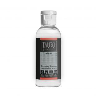 TAURO PRO LINE White Coat Nourishing Shampoo , šampūnas šunims ir katėms 65 ml