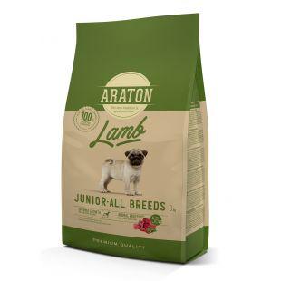 ARATON Junior Lamb Sausas pašaras šunims 3 kg