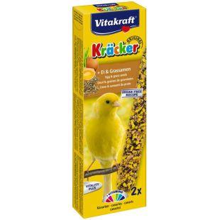 VITAKRAFT Kracker Gardėsis kanarėlėms 2 vnt su kiaušiniu