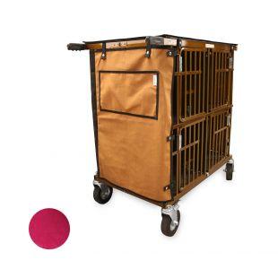 HYDROGROOM 4-Berth gyvūnų vežimėlis aviečių spalvos
