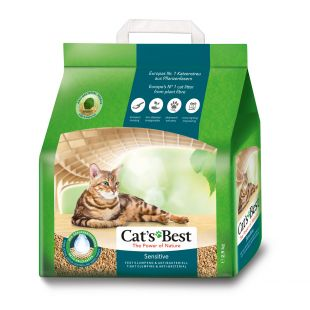 JRS Cat´s Best Sensitive, granuliuotas sulimpantis kraikas katėms 8 l
