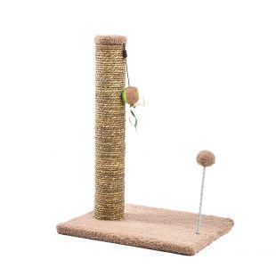 MADE4PETS draskyklė su bumbulu 30.5x40.5x54 cm, smėlinė
