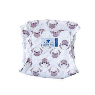 HIPPIE PET Šunų patinų daugkartinio naudojimo sauskelnės buldogai M