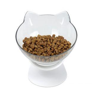 ELS PET kačių dubenėlis Katės forma 350 ml, balta