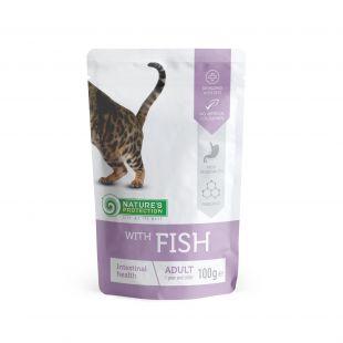 NATURE'S PROTECTION Intestinal health kons. pašaras katėms su žuvimis maišelyje, 100 g x 4