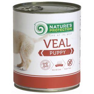 NATURE'S PROTECTION Puppy Veal Konservuotas pašaras šunims 800 g x 4
