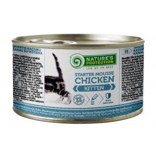NATURE'S PROTECTION Kitten Starter Mousse Chicken Konservuotas pašaras 200 g x 4