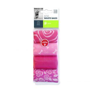 M-PETS Šunų išmatų maišeliai rožių kvapo, 60 vnt.
