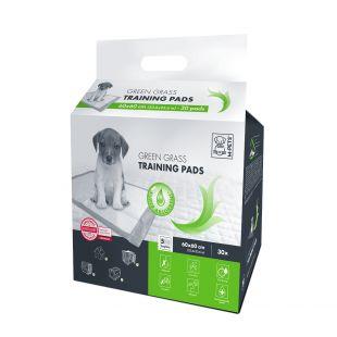M-PETS Gyvūnų vienkartinės palos žalios žolės kvapo, 60x60 cm, 30 vnt