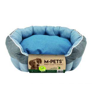 M-PETS Gyvūnų guolis mėlynas, 90x70x27 cm