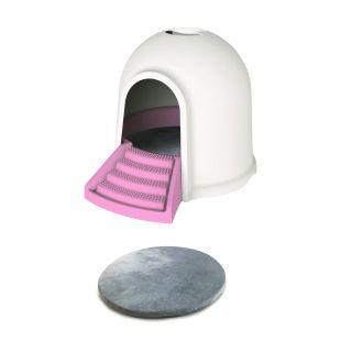 M-PETS Kačių tualetas rožinis, 45.7x59.7x43.2 cm
