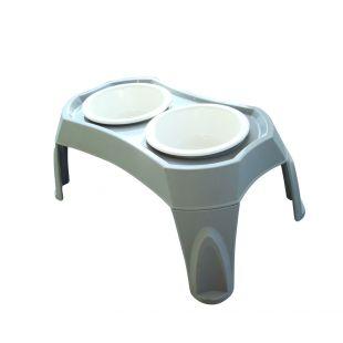M-PETS Šunų dvigubas dubenėlis su stovu 2x1500ml