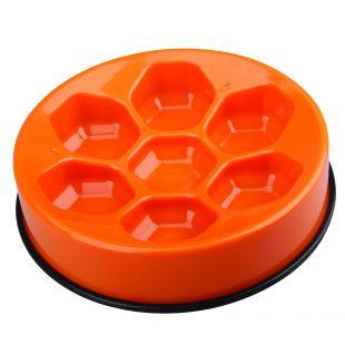 M-PETS Gyvūnų lėto maitinimo dubenėlis oranžinis