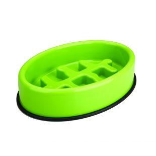 M-PETS Gyvūnų lėto maitinimo dubenėlis ovalo formos, žalias