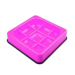 M-PETS Gyvūnų lėto maitinimo dubenėlis vaflio formos, rožinis