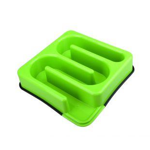 M-PETS Gyvūnų lėto maitinimo dubenėlis labirintas, žalias